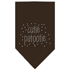 Mirage Pet Products Cutie Patootie Rhinestone Bandana Cocoa Large