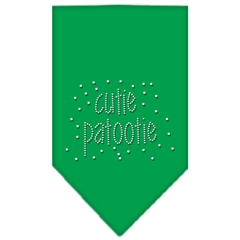 Mirage Pet Products Cutie Patootie Rhinestone Bandana Emerald Green Small