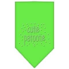 Mirage Pet Products Cutie Patootie Rhinestone Bandana Lime Green Large