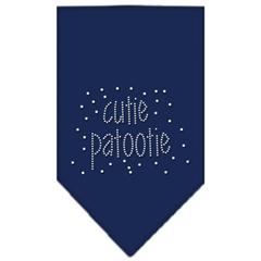 Mirage Pet Products Cutie Patootie Rhinestone Bandana Navy Blue large
