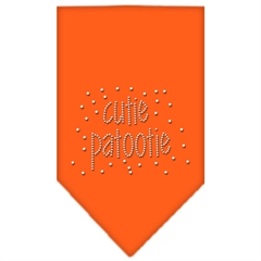 Mirage Pet Products Cutie Patootie Rhinestone Bandana Orange Large