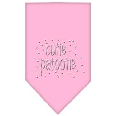 Mirage Pet Products Cutie Patootie Rhinestone Bandana Light Pink Small