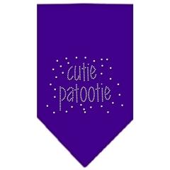Mirage Pet Products Cutie Patootie Rhinestone Bandana Purple Large