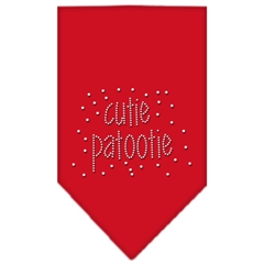Mirage Pet Products Cutie Patootie Rhinestone Bandana Red Small
