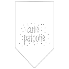Mirage Pet Products Cutie Patootie Rhinestone Bandana White Large
