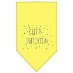 Mirage Pet Products Cutie Patootie Rhinestone Bandana Yellow Large
