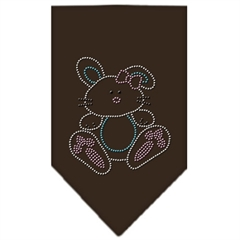 Mirage Pet Products Bunny Rhinestone Bandana Brown Small