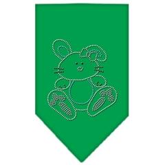 Mirage Pet Products Bunny Rhinestone Bandana Emerald Green Small