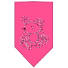 Mirage Pet Products Bunny Rhinestone Bandana Bright Pink Small