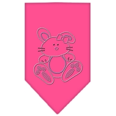 Mirage Pet Products Bunny Rhinestone Bandana Bright Pink Large