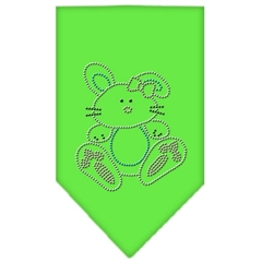 Mirage Pet Products Bunny Rhinestone Bandana Lime Green Small
