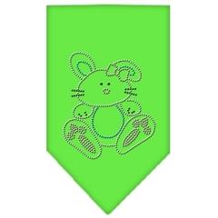 Mirage Pet Products Bunny Rhinestone Bandana Lime Green Large
