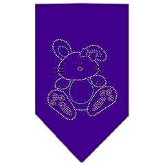 Mirage Pet Products Bunny Rhinestone Bandana Purple Small