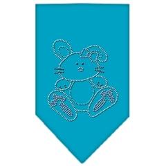 Mirage Pet Products Bunny Rhinestone Bandana Turquoise Large