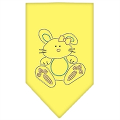 Mirage Pet Products Bunny Rhinestone Bandana Yellow Large