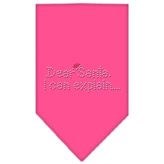 Mirage Pet Products Dear Santa Rhinestone Bandana Bright Pink Large