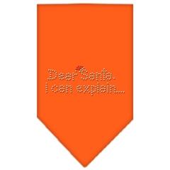 Mirage Pet Products Dear Santa Rhinestone Bandana Orange Large