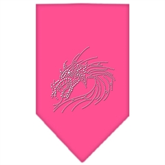Mirage Pet Products Dragon Rhinestone Bandana Bright Pink Small