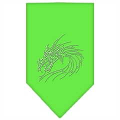 Mirage Pet Products Dragon Rhinestone Bandana Lime Green Small
