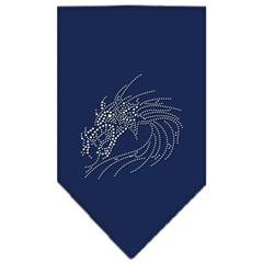 Mirage Pet Products Dragon Rhinestone Bandana Navy Blue Small