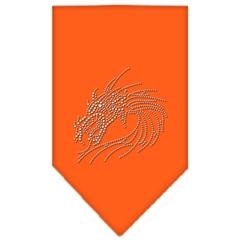 Mirage Pet Products Dragon Rhinestone Bandana Orange Large