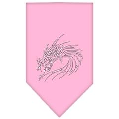 Mirage Pet Products Dragon Rhinestone Bandana Light Pink Large