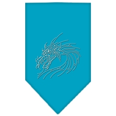 Mirage Pet Products Dragon Rhinestone Bandana Turquoise Large