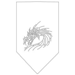 Mirage Pet Products Dragon Rhinestone Bandana White Large