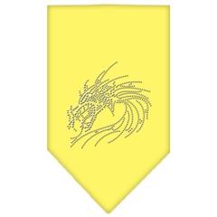 Mirage Pet Products Dragon Rhinestone Bandana Yellow Large