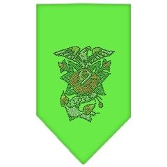Mirage Pet Products Eagle Rose Rhinestone Bandana Lime Green Large