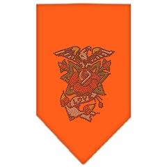 Mirage Pet Products Eagle Rose Rhinestone Bandana Orange Small
