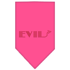 Mirage Pet Products Evil Rhinestone Bandana Bright Pink Large