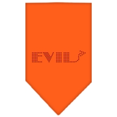 Mirage Pet Products Evil Rhinestone Bandana Orange Large