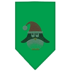 Mirage Pet Products Santa Penguin Rhinestone Bandana Emerald Green Small