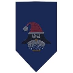 Mirage Pet Products Santa Penguin Rhinestone Bandana Navy Blue Small