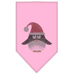 Mirage Pet Products Santa Penguin Rhinestone Bandana Light Pink Large