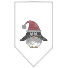 Mirage Pet Products Santa Penguin Rhinestone Bandana White Small