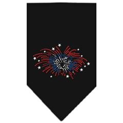 Mirage Pet Products Fireworks Rhinestone Bandana Black Large
