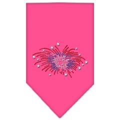 Mirage Pet Products Fireworks Rhinestone Bandana Bright Pink Small