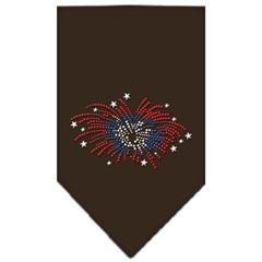 Mirage Pet Products Fireworks Rhinestone Bandana Cocoa Small