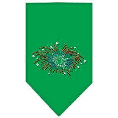 Mirage Pet Products Fireworks Rhinestone Bandana Emerald Green Small