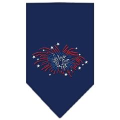 Mirage Pet Products Fireworks Rhinestone Bandana Navy Blue large