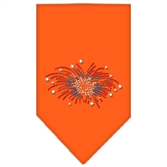 Mirage Pet Products Fireworks Rhinestone Bandana Orange Large