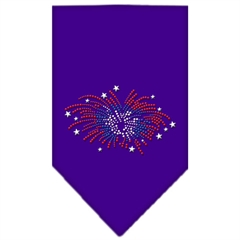 Mirage Pet Products Fireworks Rhinestone Bandana Purple Small