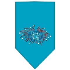 Mirage Pet Products Fireworks Rhinestone Bandana Turquoise Small