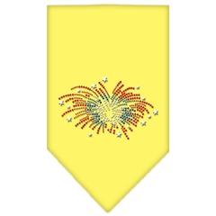 Mirage Pet Products Fireworks Rhinestone Bandana Yellow Small