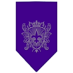 Mirage Pet Products Fleur De Lis Shield Rhinestone Bandana Purple Large