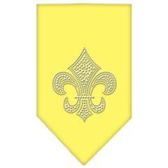 Mirage Pet Products Fleur De Lis Rhinestone Bandana Yellow Large