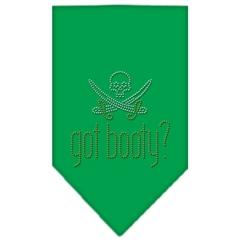 Mirage Pet Products Got Booty Rhinestone Bandana Emerald Green Large