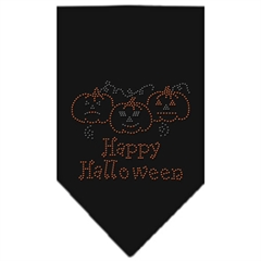 Mirage Pet Products Happy Halloween Rhinestone Bandana Black Small